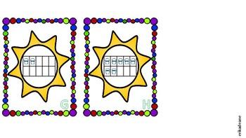 Math Around the Room! Summer Fun Ten Frame!