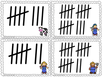 Math Around the Room: Tally Marks