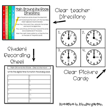 Math Around the Room- Time to the Hour