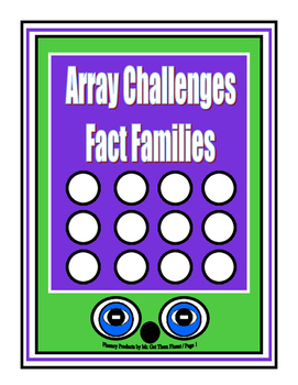 Math Array Challenges Fact Families