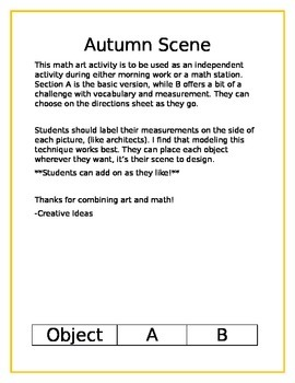 Math Art- Autumn Scene