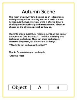 Math Art- Autumn Scene