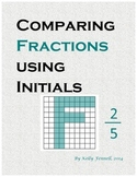 Math + Art: Comparing Fractions Using Initials