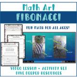 Math Art Fibonacci video lesson and activity pack