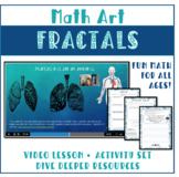 Math Art Fractals with video lessons K - 8