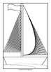 Math Art - Fun with a Ruler - Sailboat