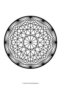 Math Art - Fun with a Ruler - Tumbleweed