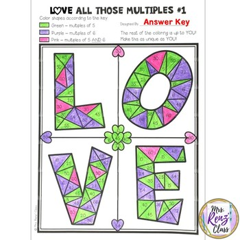 Math Art Multiples & Common Multiples Math Center with 5 Days of Lessons & More!