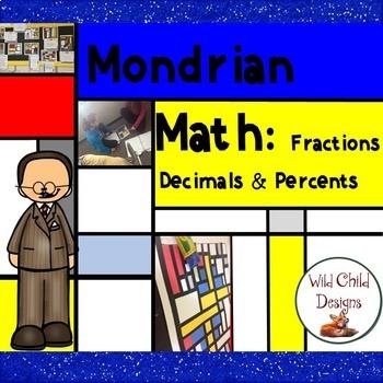 Math & Art Project-Based Learning: Piet Mondrian, Fractions, Decimals & Percents