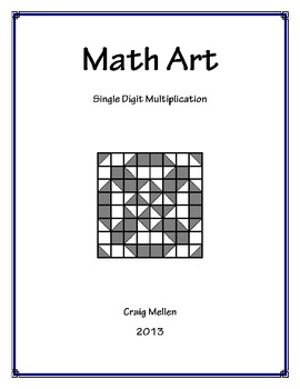 Math Art: Single Digit Multiplication