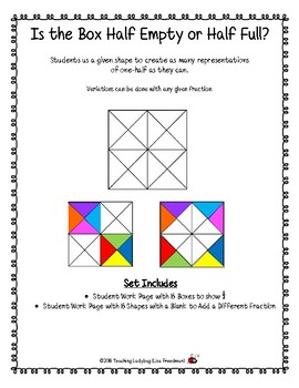 Math & Art Using 1/2 or Other Fractions