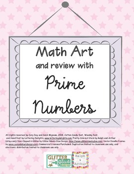 Math Art and review with Prime Numbers