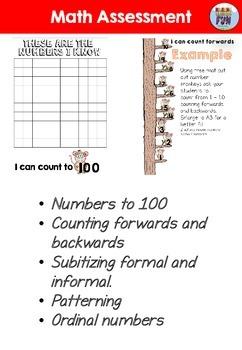 Math Assessment for Student Portfolio