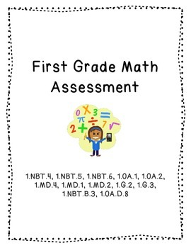 Math Assessment (1.NBT.3-6, 1.OA.1-2, 1.MD.1,2,4, 1.G.2,3)