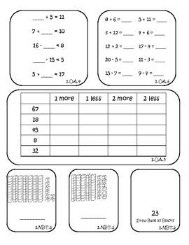 Math Assessment - 1.OA.1, 1.OA.2, 1.OA.3, 1.OA.4, 1.OA.5, 1.OA.6, 1.NBT.2