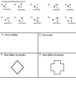 Math Assessment 3