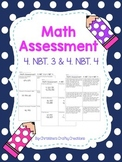 Math Assessment 4. NBT. 3 & 4. NBT.4