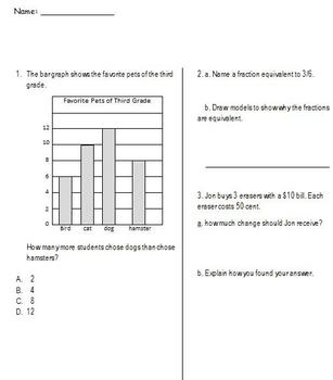 Math Assessment Aligned to Common Core