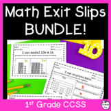 Common Core 1st Grade Math Assessments BUNDLE!! ~ Exit Slips