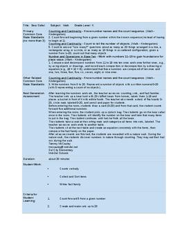 Math Assessment - Bear Safari