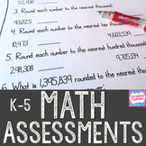 Math Assessments Bundle
