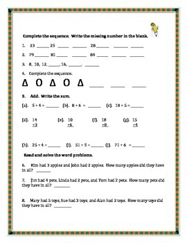 Guided Math Second Grade: Add, Subtract, Equations, Place Value, Tens & Ones