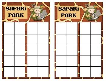 Math Assessment - Finding Unknowns - Safari Park