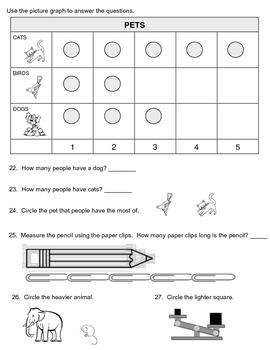 Math Assessment - First Grade Entrance