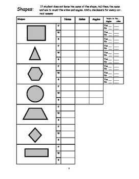 Math Assessment For Kindergarten