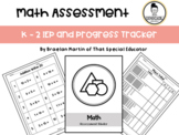 Data Collection - Math - IEP Goal and Progress Tracking -