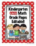 Math Assessment Kindergarten Grade Pages