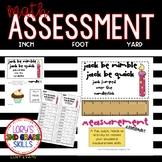 Math Assessment - Measurement - Jack Be Nimble, Jack Be Quick