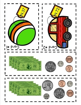 Math Assessment - Money -Total Up My Toys