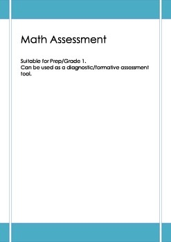Math Assessment Number & Pattern includes Word Problems