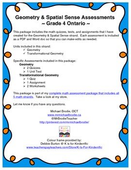 Math Assessment Package: Geometry