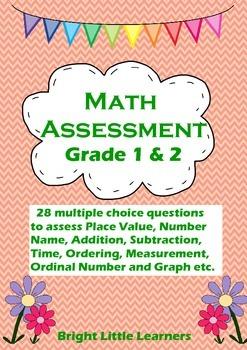 Math Assessment Quiz Grade 1 and 2