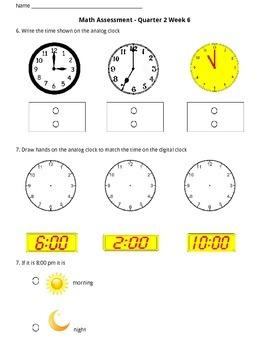 Math Assessment (Second Quarter)
