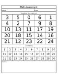 Math Assessment Sheet