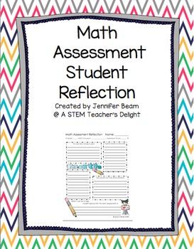 Math Assessment Student Refection Sheet for Data Notebook