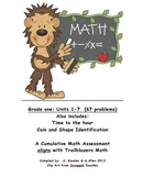 Math Assessment First Grade Trailblazers Units 1-6, First