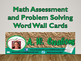 Math Assessment and Problem Solving Word Wall Cards