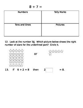 Math Assessment for 2.0A.2, 2.NBT.5, 2.NBT.9