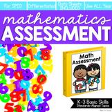 Math Assessment for K-3 Basic Skills (for Special Education) | Digital + Print
