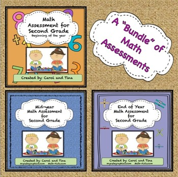 Math Assessments for Second Grade: Beginning, Mid, and End