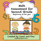 Math Assessment for Second Grade: Beginning of the Year