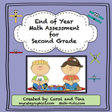 Math Assessment for Second Grade: End of Year