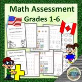 Math Assessment (grade 1-6), Ontario Curriculum aligned