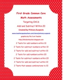 Math Assessments Aligned to the Common Core for First Grade