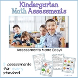 Math Assessments CCSS Kindergarten