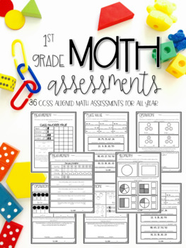 Common Core Math Assessments for All Year Long (First 1st Grade Edition)